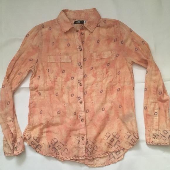 BDG super light weight cotton button front shirt